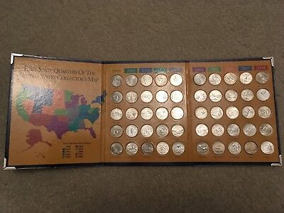 Complete 50 State Quarters Set 1999-2008 In Collectors Folder