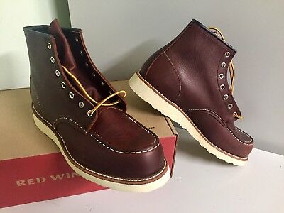 9c24442a17a NEW RED WING HERITAGE 8138 MENS 10.5D BRIAR OIL SLICK CLASSIC MOC TOE BOOTS  2nds