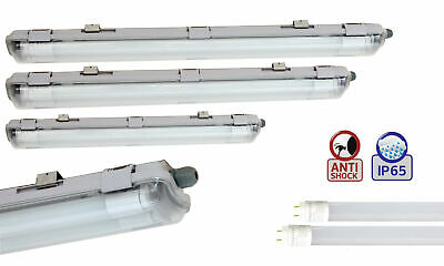 Led Moisture-Proof Luminaire Luminaire IP65 2-flammig+24W T8 Led Tube Tube 150cm