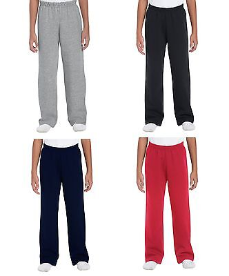 Boys Girls Fleece Jogging Bottoms Joggers Childrens School Kids Jog Pants