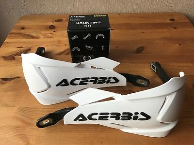Acerbis X - Factory Universal Bike Hand Guards & Fitting Kit Ktm White/black