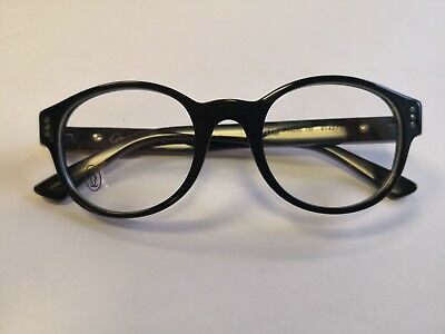 Cartier Premiere Luxury Black Eyeglasses 49-20 Hand Made in France Very Rare !!!