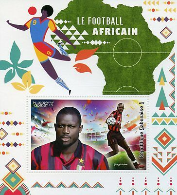 Gabon 2018 MNH African Football George Weah 1v S/S Sports Soccer Stamps