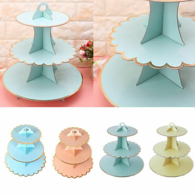 3 Tier Cardboard Afternoon Tea Cupcake stand Cake Stand for Birthday Party event