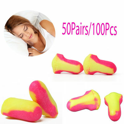 100x Soft Foam Ear Plugs Howard Leight Laser Lite Earplugs For Sleep Ear Protect