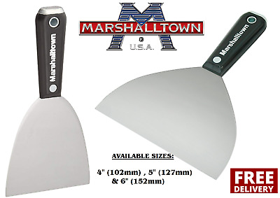 """Marshalltown Drywall Jointing/Taping Knife/Putty Spatula 4"""", 5"""" & 6"""" CHOOSE"""