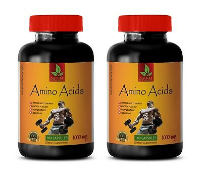 amino acid capsules - AMINO ACIDS 1000mg - sport supplements - 2 Bottles