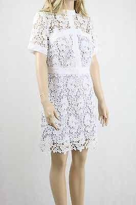 ASOS Women's White Lace Skater Mini Party Cocktail Dress with UK SIZE 14 42 £65