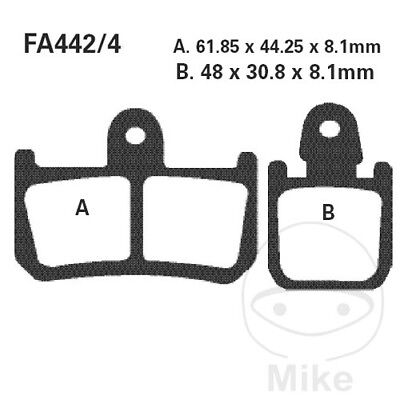 EBC Road Race Sintered Brake Pads GPFAX442/4HH (GPFAX442/4HH)
