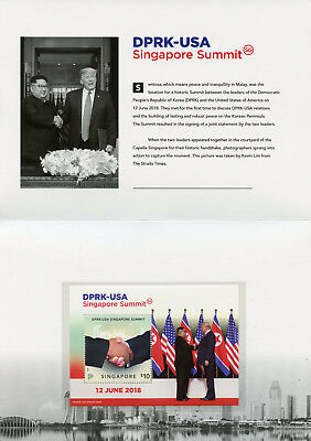 Singapore 2018 MNH Korea USA Summit Donald Trump 1v M/S Pack Presidents Stamps