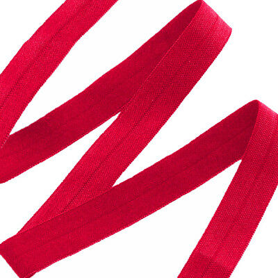 Hot Red Fold Over Elastic - 5 Yards
