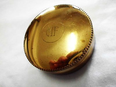 edle antike vergoldete Dose-hallmarked-noble antique gildet snuffbox-pillbox