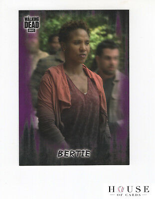 2018 Topps AMC The Walking Dead Bertie #66 /10 SP Purple  NM/MT (HOC)