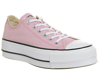 1f24cc11731c WOMENS CONVERSE PINK Canvas Lace Up Trainers Size UK 6  Ex-Display ...