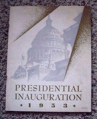 1953 Eisenhower Presidential Inauguration Program. 47 Pages Of Events & History