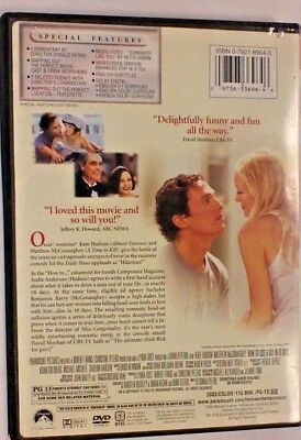 DVD Movie HOW TO LOSE A GUY IN 10 DAYS Kate Hudson
