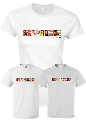 Spice Girls T Shirts Reunion World Tour 2019 T-Shirt Ladies Mens Kids 7-8 to XXL