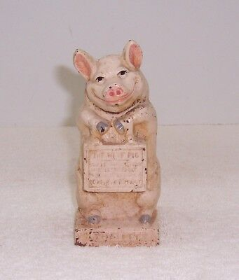 The Wise Pig Cast Iron Coin Bank