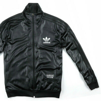 ADIDAS ORIGINALS CHILE Lederoptik Glanz Jacke Jacket Superstar Gay Wet Look ML