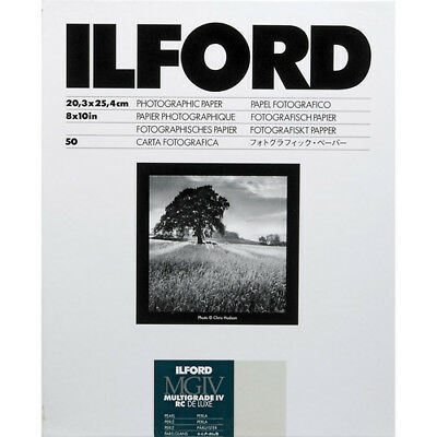 "Ilford Multigrade IV RC DeLuxe Paper (Pearl, 8 x 10"", 50 Sheets) #1799178"