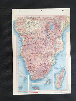Map Of South Africa  1967 Large