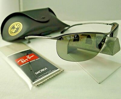 Ray-Ban Rb3542 029 5J Gunmetal Silver Mirror Polarized Sunglasses Chromance  9.5 2958805b6a8f