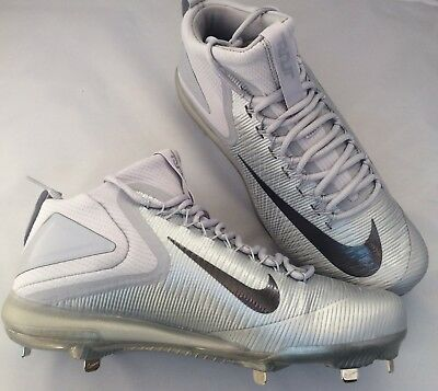 free shipping 4af16 45d2c Nike Zoom Mike Trout 3 Metal Baseball Cleats Silver Black Sz 11.5 856503-001  New