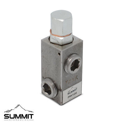 "Adjustable High Pressure Relief Valve, 20 GPM, 2500 PSI, 3/4"" NPT"