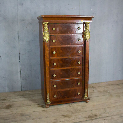 Beautiful Antique French Chest Of Drawers, Wellington, Rare Size