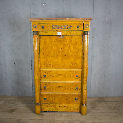 Beautiful Antique French Chest Of Drawers/escritoire Marble Top, Vintage