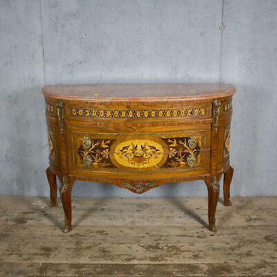 Beautiful Antique French Console, Drawers/Side Table, Marble Top, Vintage