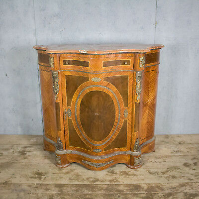 Rare, Serpentine Fronted, French Antique Cupboard, Hall Stand, Marble Top