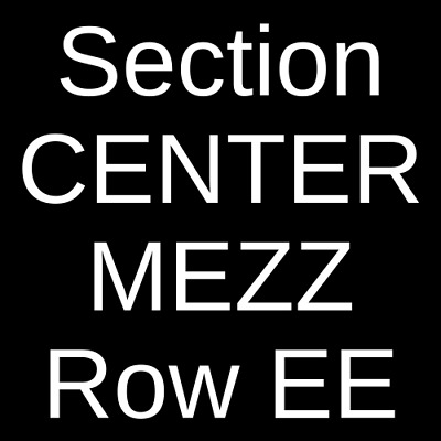 4 Tickets The Fab Faux 6/28/19 Lincoln Center Performance Hall Fort Collins, CO