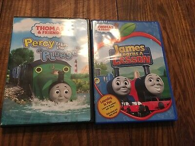 THOMAS & FRIENDS PERCY TAKES THE PLUNGE & James Learns A Lesson DVD LOT