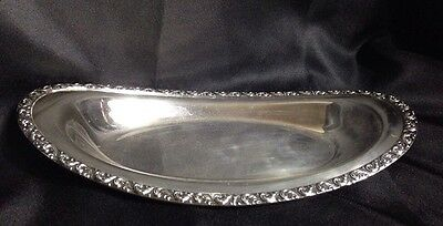 "NSCO National Silver Co Silver on Copper Serving Dish 13""x 6.5"" x 1 3/4""   3C13"