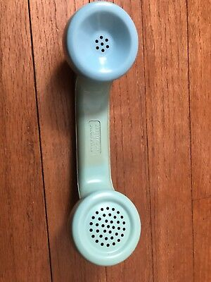 Vintage Aqua Blue Western Electric Phone Handset
