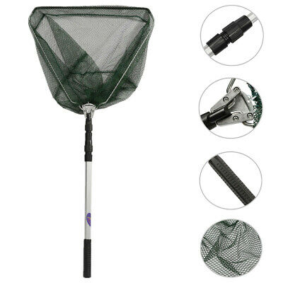 Retractable Telescoping Pole Folding Fishing Brail Landing Net Tackle 3 Section