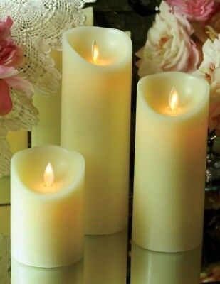 Victorian Trading Co 1 Waxing Poetic Flicker Flameless Candle SHORT