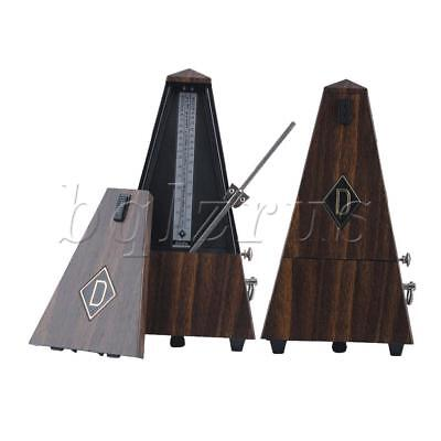 Teak Wood Antique Mechanical Metronome Traditional Music Timer for Guitar Piano
