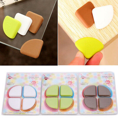 4 Silicone Soft Table Desk Edge Corner Baby Safety Cushion Protector Guard Cover
