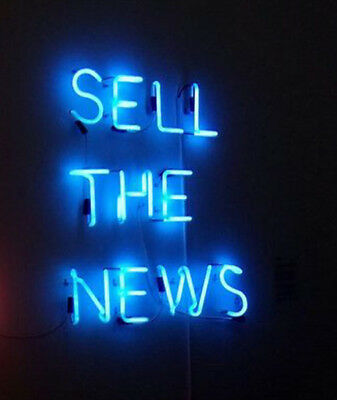 New Sell The News Artwork Handmade Acrylic Light Lamp Neon Sign 17""
