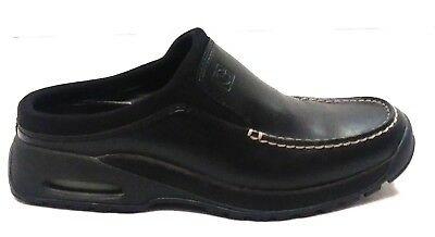 00bfd48350f COLE HAAN COUNTRY Womens Black Leather Moc Toe Slide On Mules Sz 7B ...