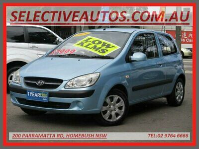 2009 Hyundai Getz TB MY09 S Blue Automatic 4sp A Hatchback