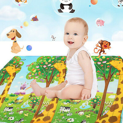 2x1.8m Baby Kid Crawl Mat Toddler Puzzle Giraffe Play Cushion Carpet Blanket Rug