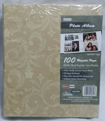 Vintage Photo Album 100 Magnetic Pages New Pioneer Scrapbook Acid
