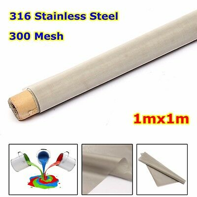 100x100cm 300 Mesh Woven Wire Cloth 316 Stainless Steel Screen filter Filtration