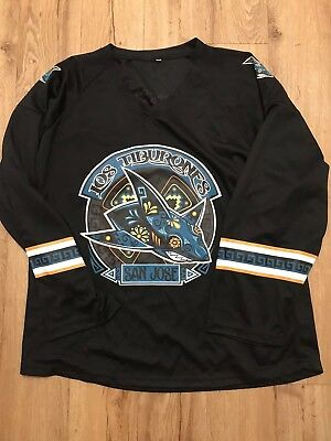 fc5c32c3e SAN JOSE SHARKS NHL Los Tiburones Jersey Size XL 10 14 17 LIMITED EDITION