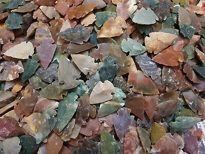 Flint Stone Handcrafted Arrow Head Native Natural Agate Stone lot of 200 Spears
