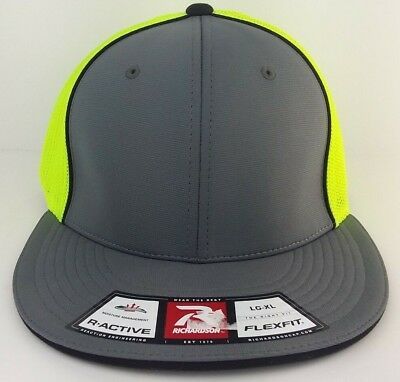 e5a4a2d8ccbdbd RICHARDSON 165 PULSE/MESH R-FLEX BASEBALL CAP BLANK FIT HAT curve or flat