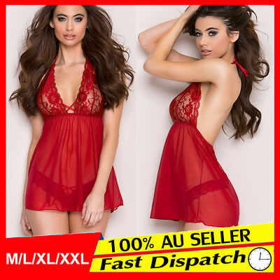 Women Ladies HOT Dress Nightwear Babydoll Sexy Lingerie Thong G-String Underwear